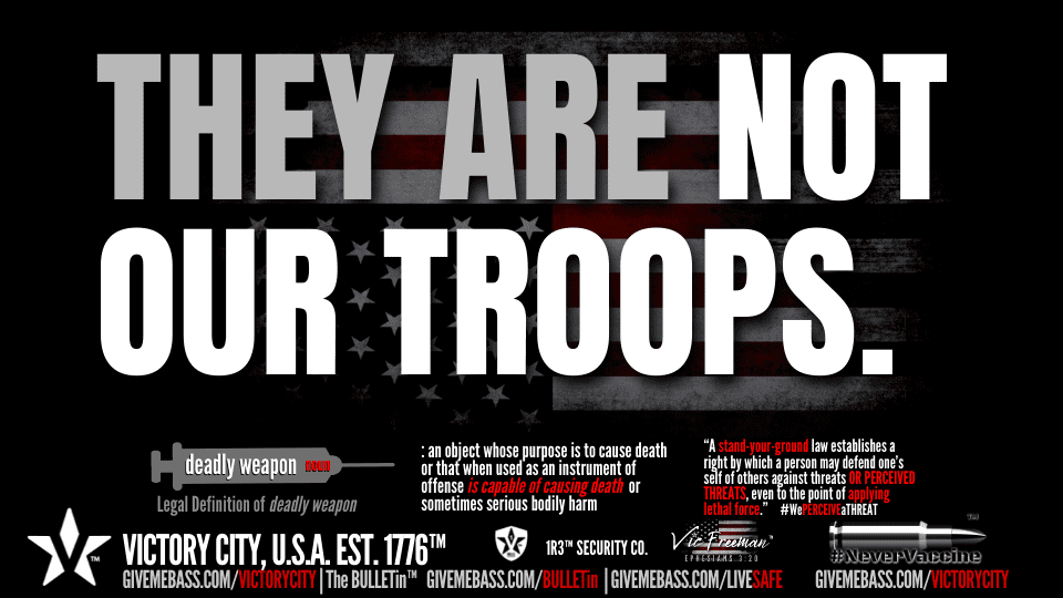 They are NOT OUR TROOPS