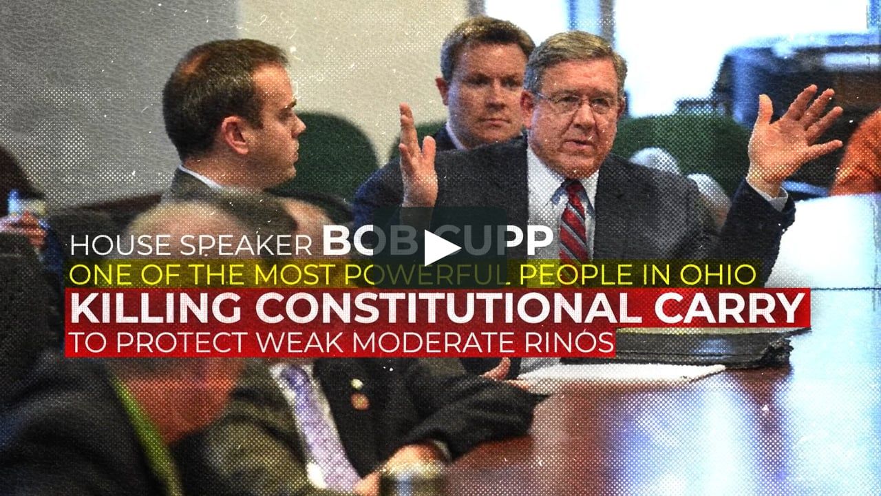 Bob Cupp: Killing Constitutional Carry!